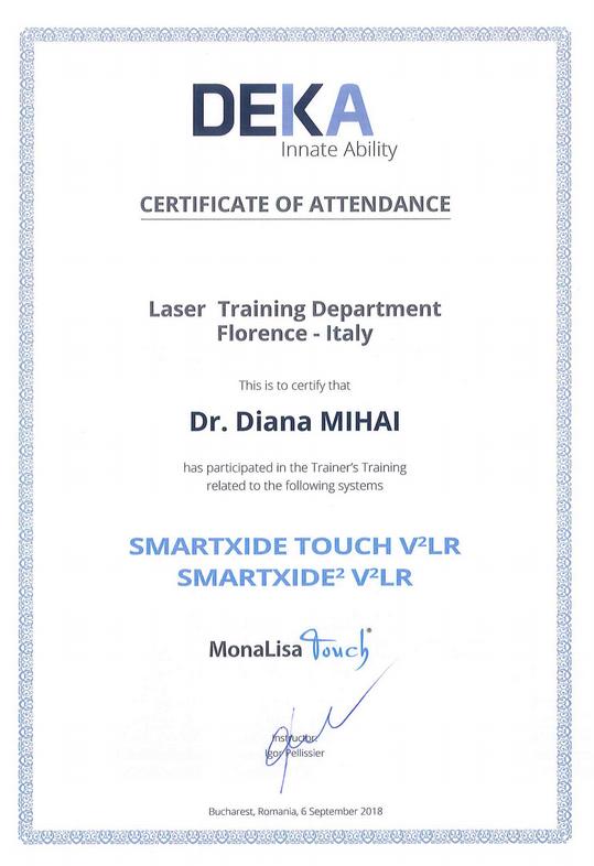 Diploma Doctor Diana Mihai DEKA